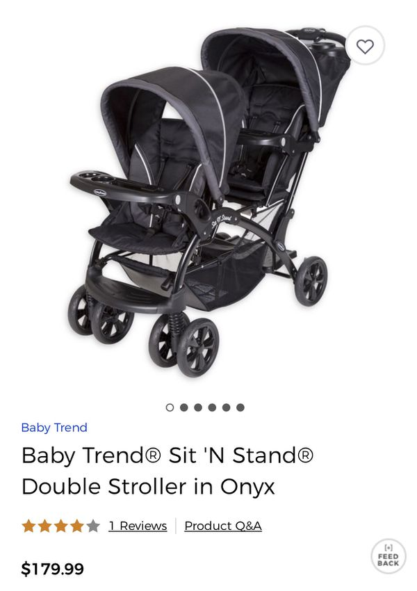 Double Stroller Baby Trend Sit N Stand