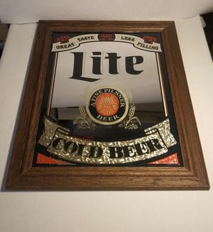 MIRROR. VINTAGE LITE BEER for Sale in Carson, CA
