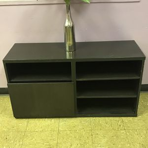 Beautiful Dark Stained Floor Shelf / Entertainment Cabinet / TV Stand for Sale in Decatur, GA