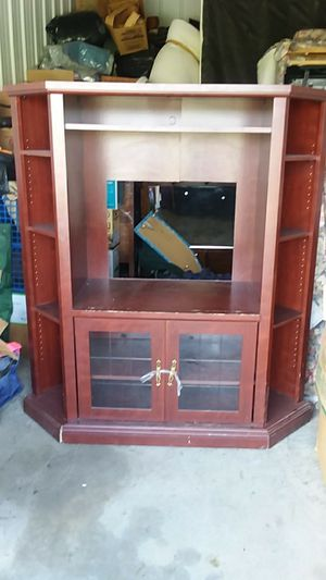 Entertainment Center... Nice/shelves $50 DELIVERY FEE for Sale in Fort Wayne, IN