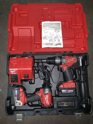 Milwaukee 2797-22 M18 Fuel Lithium-Ion 2-Tool Combo Kit (includes Hammer Drill and Hex Impact Driver) for Sale in Los Angeles, CA