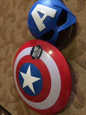Captain America shield and mask for Sale in Newark, NJ