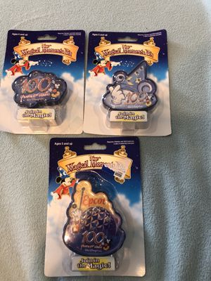 Disney 100 anniversary Pin collection (3) for Sale in Rockwall, TX