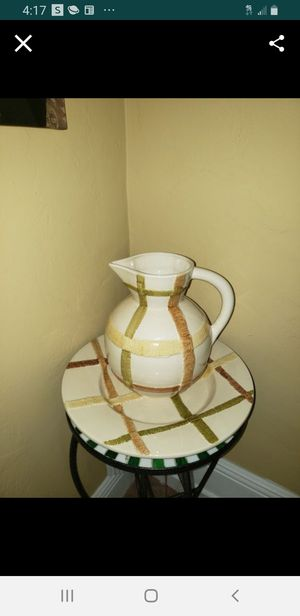Large Pitcher with plate for Sale in Cape Coral, FL