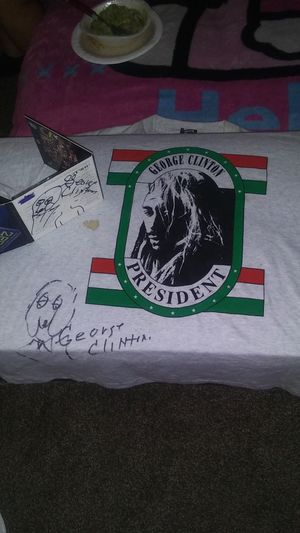 George Clinton autographed CD and t-shirt for Sale in Tacoma, WA