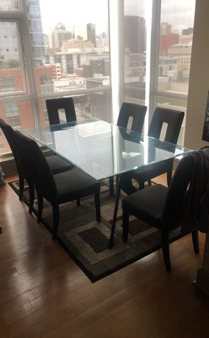 2k glass table + 6 chairs for cheap !😍 no low ball offers please please pleaSe for Sale in San Diego, CA