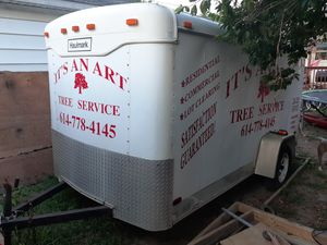 12ft inclosed trailer needs little work done on the doors and back for Sale in Columbus, OH