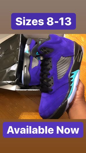 Air Jordan 5 Grape sizes 8-13 IN HAND NOW for Sale in Baltimore, MD