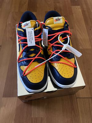 Off White x Nike Dunk low Michigan size 9.5 for Sale in Queens, NY