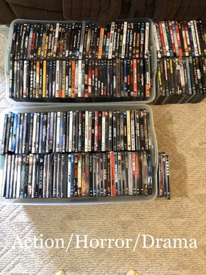 202 Action/Horror/Drama DVDs and Blu-ray's- bulk lot for Sale in Snellville, GA