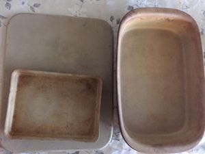 Pampered Chef Stoneware Cooking Baking Dishes Pans Sheet for Sale in Plano, TX