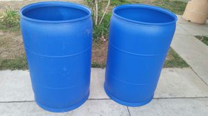 55 gallon heavy duty plastic drums $25 each for Sale in Rosemead, CA