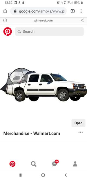 Chevy Avalanche Truck Tent for Sale in Edgewood, NM