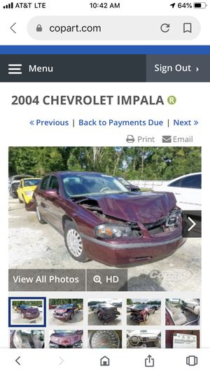 2004 Chevy Impala Parting out for Sale in Hialeah, FL