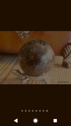 Smoky quartz sphere crystal ball one and only!! for Sale in Oakton, VA