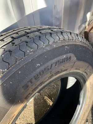 Trailer tires great shape 205/75r14 for Sale in El Cajon, CA