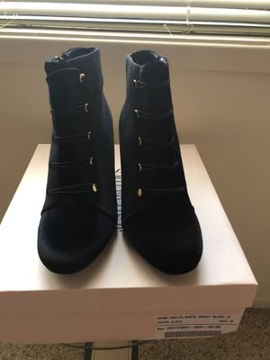 Black Faux Suede Ankle Boots Size 10 for Sale in Smyrna, GA