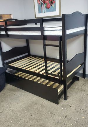 Twin size Bunk bed 3 FREE MATTRESS for Sale in Las Vegas, NV