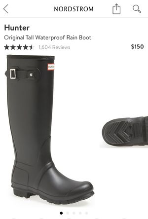 Hunter Original Tall Waterproof Rain Boots size 8 for Sale in Miami, FL