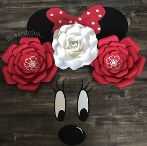 Minnie Mouse Paper Flowers (Nursery, Party, Babyshower, Bedroom decor, etc) for Sale in Las Vegas, NV