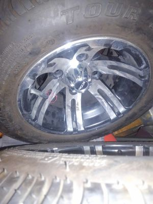 Golf cart tires n rims 4 off them size 205/50-10 for Sale in Tampa, FL