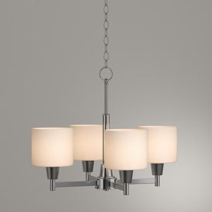 Oron 4-Light Brushed Steel Chandelier with White Glass Shades for Sale in Buckeye, AZ