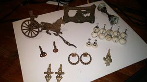 Various vintage metal items and glass door knob for Sale in Lynn, MA