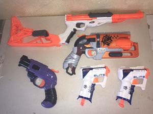 Nerf Zombie Strike Hammershot Blaster with Extra Nerf Blasters Bundle Lot for Sale in Yucaipa, CA