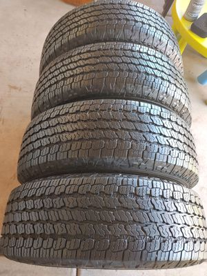 265 70 16 like new set tires good year wrangler kevlar all terrain 2020 have 100%tread left for Sale in Phoenix, AZ