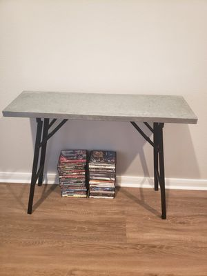 Thin Steel Console Table for Sale in Houston, TX