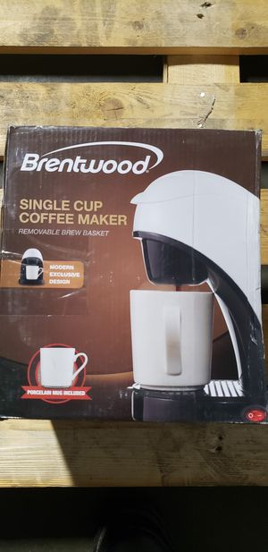 Brentwood TS-112R Single Cup Coffee Maker (White, Black, and Red) for Sale in Buena Park, CA