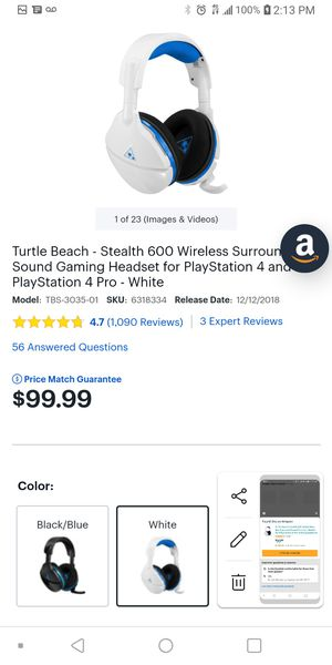 Stealth 600 Surround Sound Wireless Turtle Beach Gaming Headset. for Sale in Groveport, OH