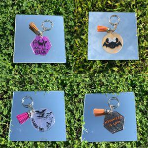 Handmade Halloween Acrylic Keychain w Tassel for Sale in Riverside, CA