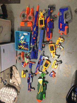 Nerf Gun Lot VERY CHEAP MUST GO! for Sale in Oak Glen, CA