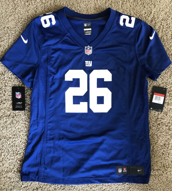 649598430 Nike Women's Large Saquon Barkley Royal Blue Giants Game Jersey ...