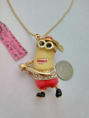 Adorable Minion Despicable Me Necklace Betsy Johnson for Sale in Columbus, OH