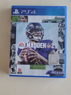 Madden 21 PS4 , NFL Game and Case in very good condition for Sale in Hialeah,  FL