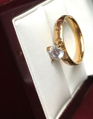GOLD PLATED ENGAGEMENT RING for Sale in Los Angeles, CA