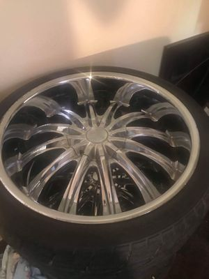 22in rims and tores for Sale in Bay City, MI
