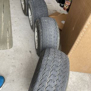 Used Golf Cart Wheels And Hubcaps for Sale in Forney, TX