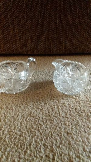 Antique hand cut lead crystal cream and sugar for Sale in Pasco, WA
