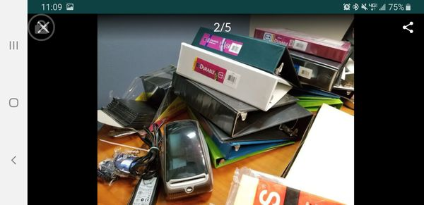 Office supplies and printer