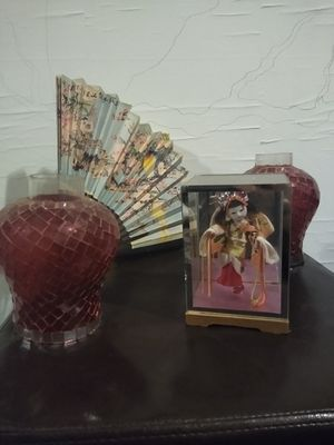 Collectible Japenese handcarved Geisha Doll and decor for Sale in Salt Lake City, UT