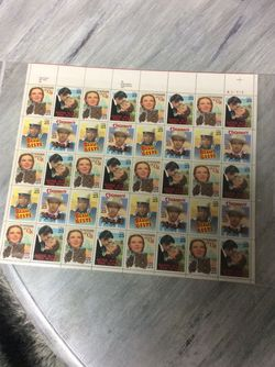 Collection Of Wizard Of Oz, Stagecoach, Gone With The Wind, and Beau Geste Postage Stamps 1990 Classic Films for Sale in Jackson Township,  NJ