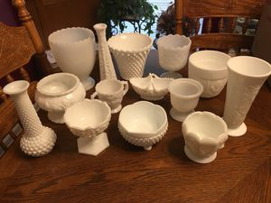 Antique Milk Glass Vases, Planters, Candy Dishes, Etc. for Sale in Boiling Springs, SC