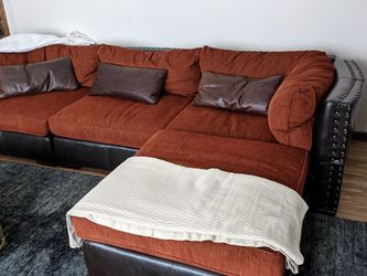 Arhaus Custom Leather& Fabric Modular Sofa for Sale in Strongsville,  OH