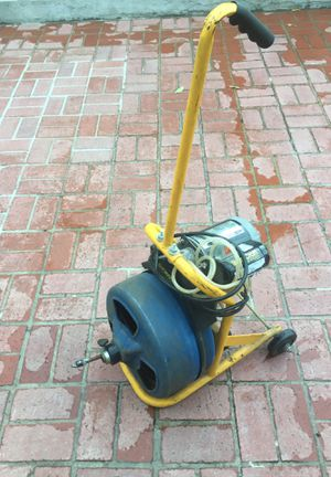Drain cleanup machine cabke 3/8x75' good working confutions $250 for Sale for sale  Los Angeles, CA