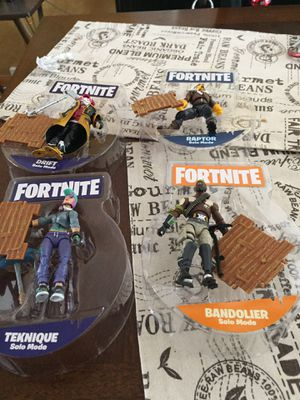 Fort nite figures for Sale in Romeoville, IL