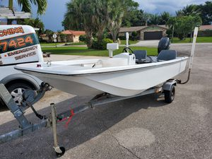 16ft Skiff / Boat with 40hp Johnson for Sale in West Palm Beach, FL