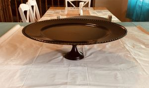 "Round 13"" Black Matte Cake Stand for Sale in Bluffdale, UT"